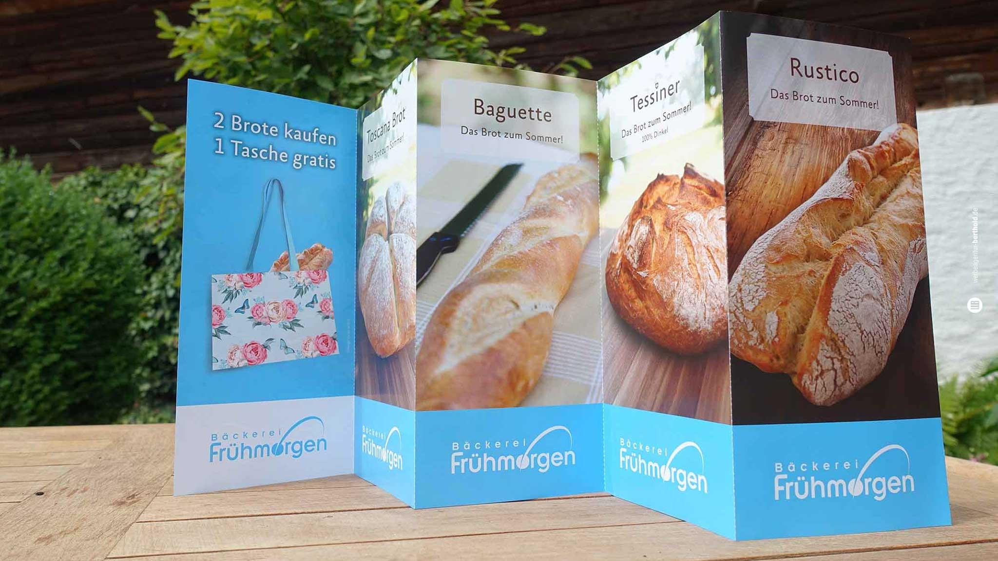 Bäckerei Frühmorgen, Postwurfsendung